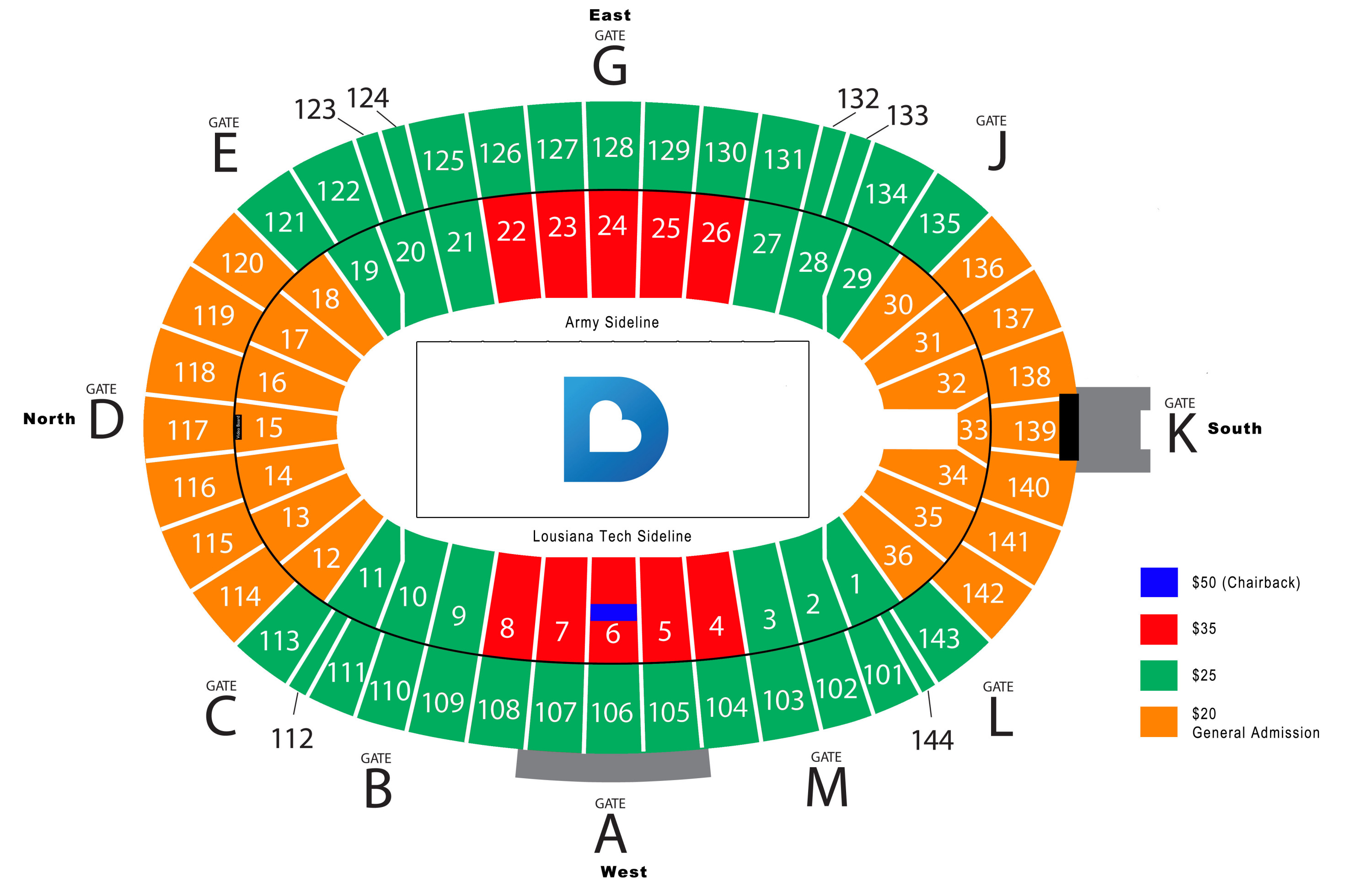 Cotton Bowl Seating Chart